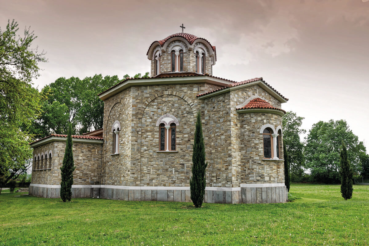 The church of St Lydia Philippisia near Philippi, northern Greece. The church is built in the area where Apostle Paul preached and baptized the first Christians of Europe - among them a woman named Lydia. Photo Source: Visit Kavala / Yiannis Yiannelos