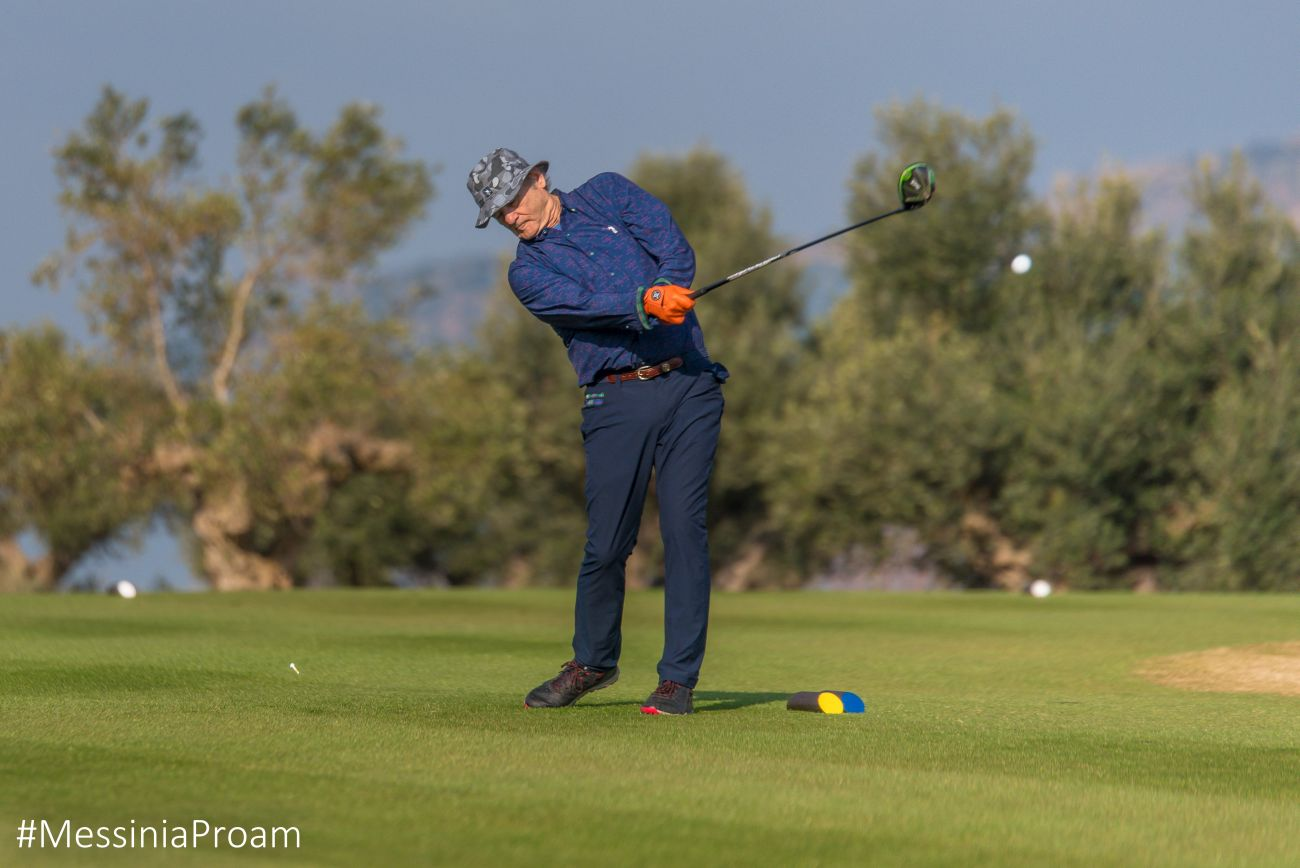 Actor Bill Murray at Costa Navarino's 3rd International Messinia Pro-Am. Photo by Elias Lefas