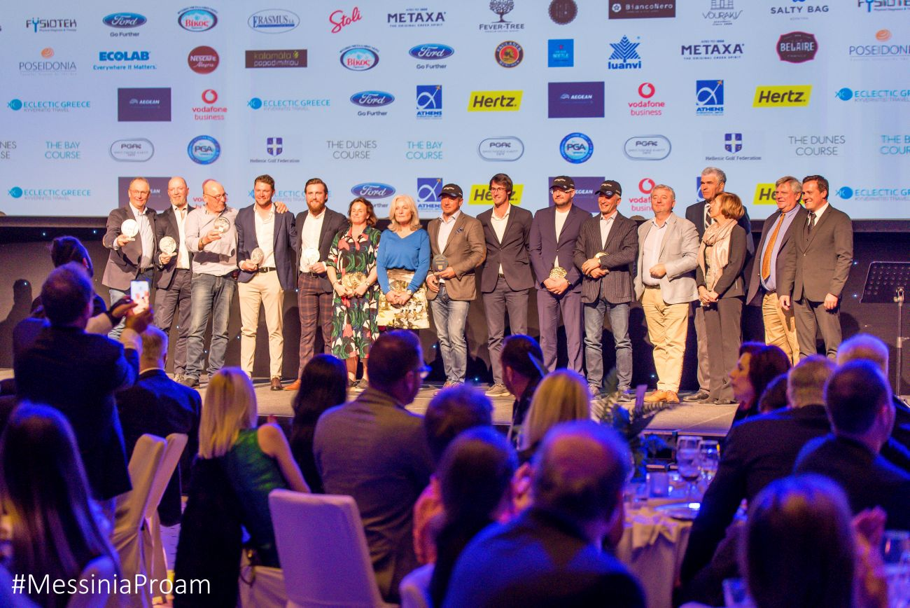 The winners of the 3rd Messinia Pro-Am on stage. Photo by Elias Lefas