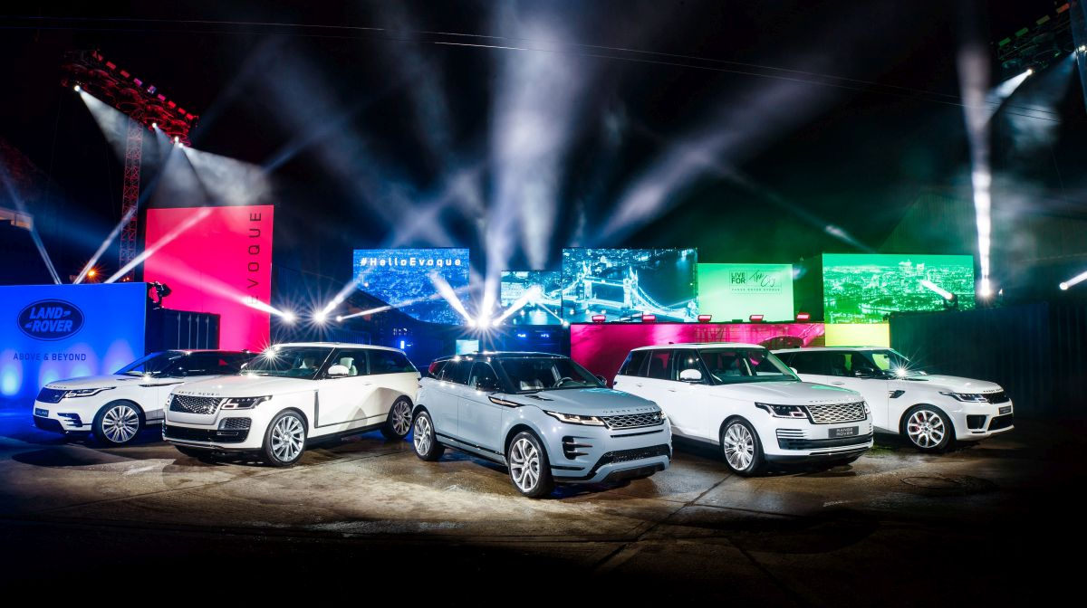 The world premiere of Land Rover's luxury compact SUV, the New Range Rover Evoque, took place in London in November 2018. Photo © Land Rover