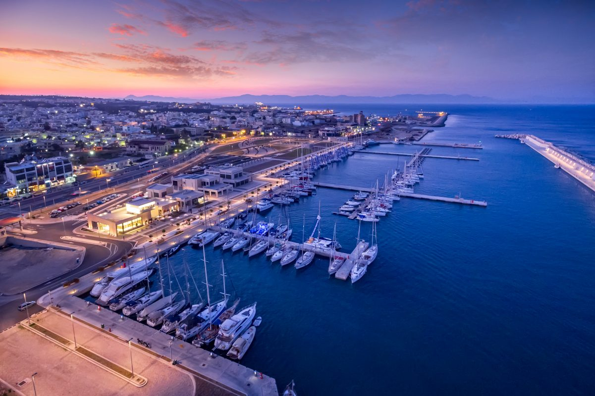 The marina in main the town of Rhodes. Photo Source: Greek Marinas Association