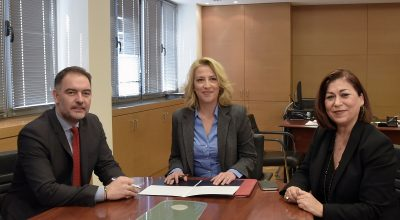 HCH President Alexandros Vassilikos; Attica Governor Rena Dourou and Attica Region Executive Councilor for Tourism Eleni Dimopoulou.