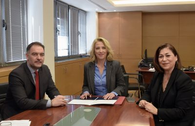 HCH President Alexandros Vassilikos; Attica Governor Rena Dourou and Attica Region Executive Councilor for Tourism Eleni Dimopoulou.