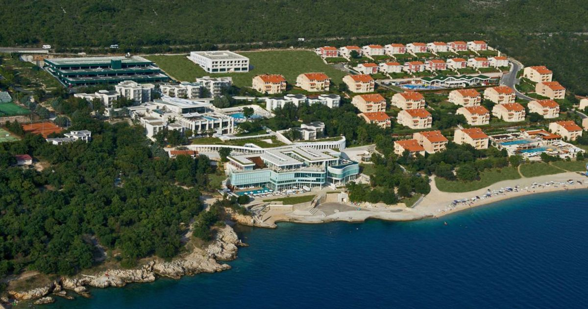 Panoramic view of the property now under the management of Zeus International in Croatia.