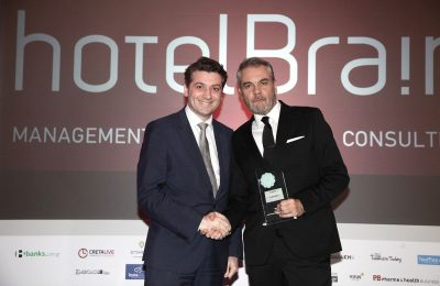 Tasos Askitoglou, Commercial Director of HotelBrain Capital, and Konstantinos Zikos, CEO of HotelBrain.