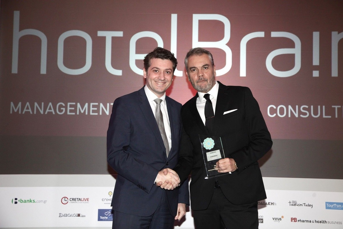 Xenophon Petropoulos, Country Director of Horwath HTL Greece, and Konstantinos Zikos, CEO of HotelBrain.