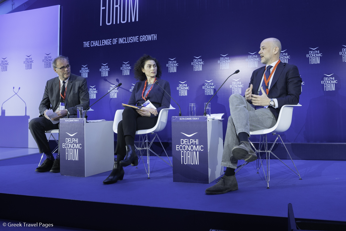 Alain Dupeyras Head of the Regional Development & Tourism Division, OECD; Christina Poutetsi, Columnist, Protagon; Yiannis Retsos, President, Greek Tourism Confederation (SETE).