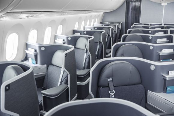 American Airlines, 787 business class.