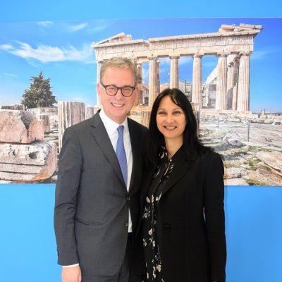 DRV President Norbert Fiebig with Greek Tourism Minister Elena Kountoura.