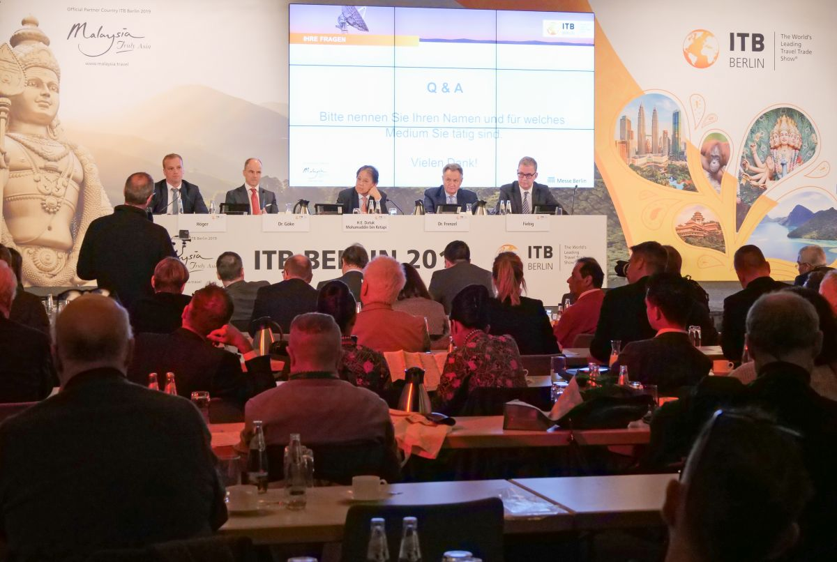 Opening press conference of ITB Berlin 2019.