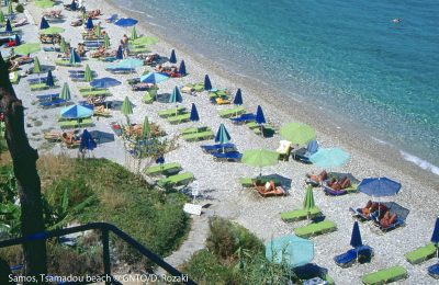 Samos island, Tsamadou beach. Photo Source: Visit Greece/D. Rozaki