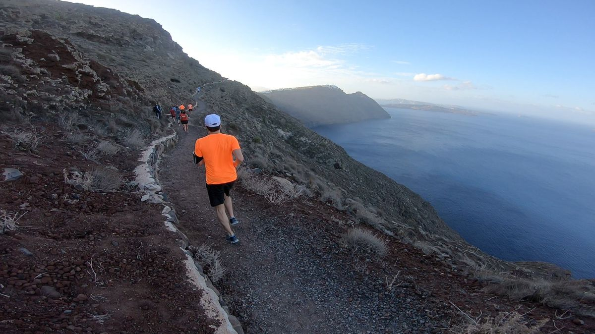 Running photo @ Santorini Experience. GoPro photo by Vassilis Sfakianopoulos