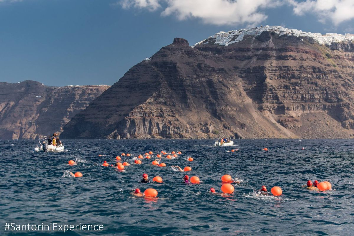 Open Water Swimming by Vikos @ Santorini Experience. Photo by Elias Lefas