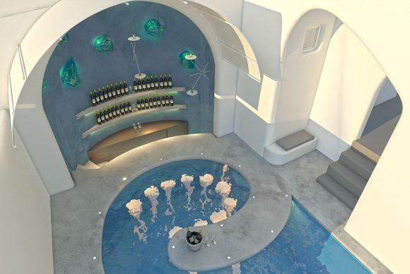 Impression on new pool bar. Photo source: Athina Luxury Suites