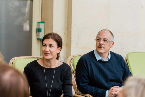 """Delphine Cadilhac, """"Oui mag"""" and Yan Bernard-Guilbaud, """"Le Figaro Madame"""".."""