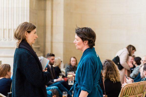 """Marie-Angélique Ozanne, """"Le Figaro"""" and Marie-Eudes Loriot Prevost, """"Point de Vue""""."""