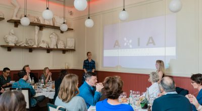 The director of the GNTO in Paris Dimitra Voziki and the Managing Director of Press-à-Porter present the associate hotels of Axia Hospitality to French journalists.