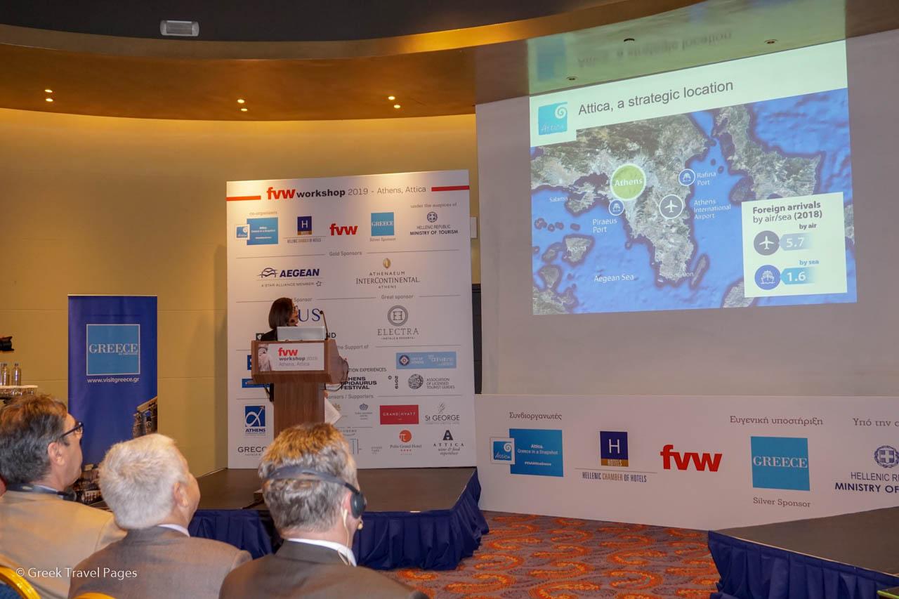 Executive Regional Councilor for Tourism Promotion of Attica Eleni Dimopoulou.