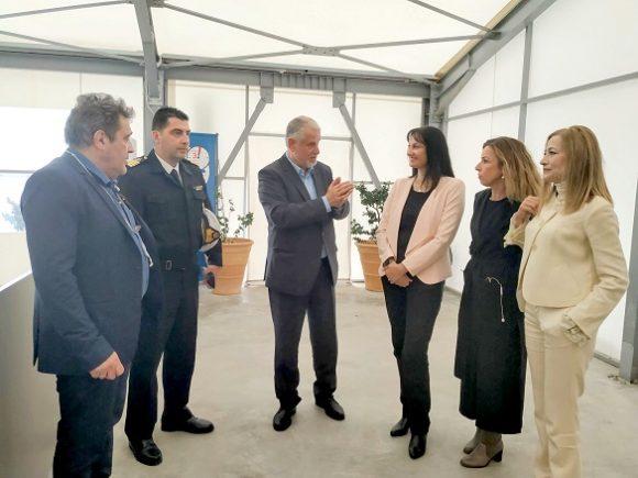 Greek Tourism Minister Elena Kountoura visited Heraklion's new cruise port terminal.