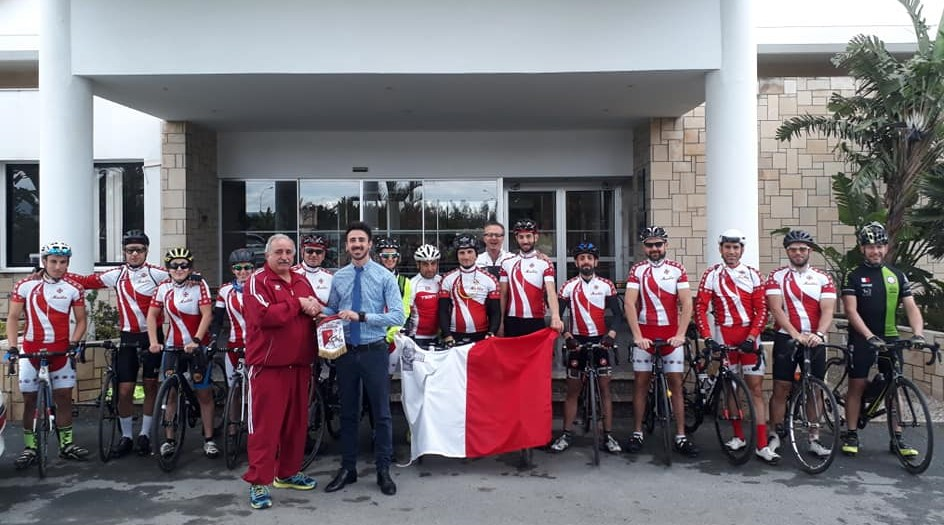 Louis Phaethon Beach Hotel's Service Manager with the Malta Cycling Federation team.