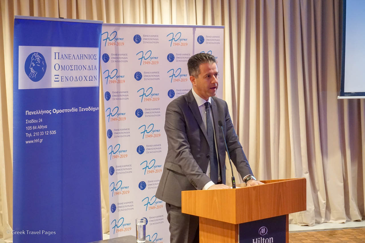 Hellenic Hoteliers Federation (POX) PresidentGrigoris Tasios.