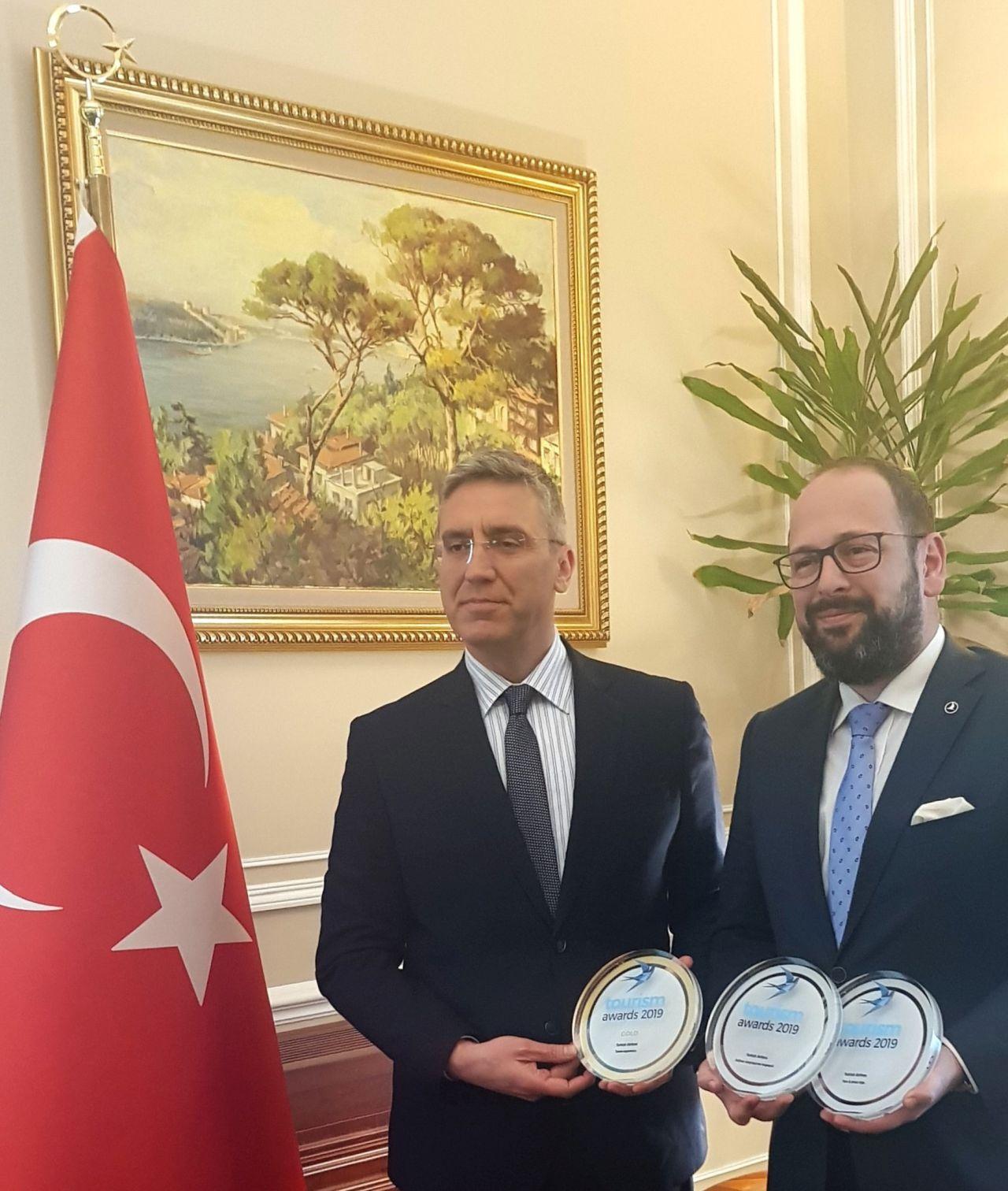 Ο Πρέσβης της Τουρκίας στην Ελλάδα, κ. Burak Özügergin μαζί με τον κ. Alp Yavuzeser, General Manager της Turkish Airlines στην Ελλάδα.