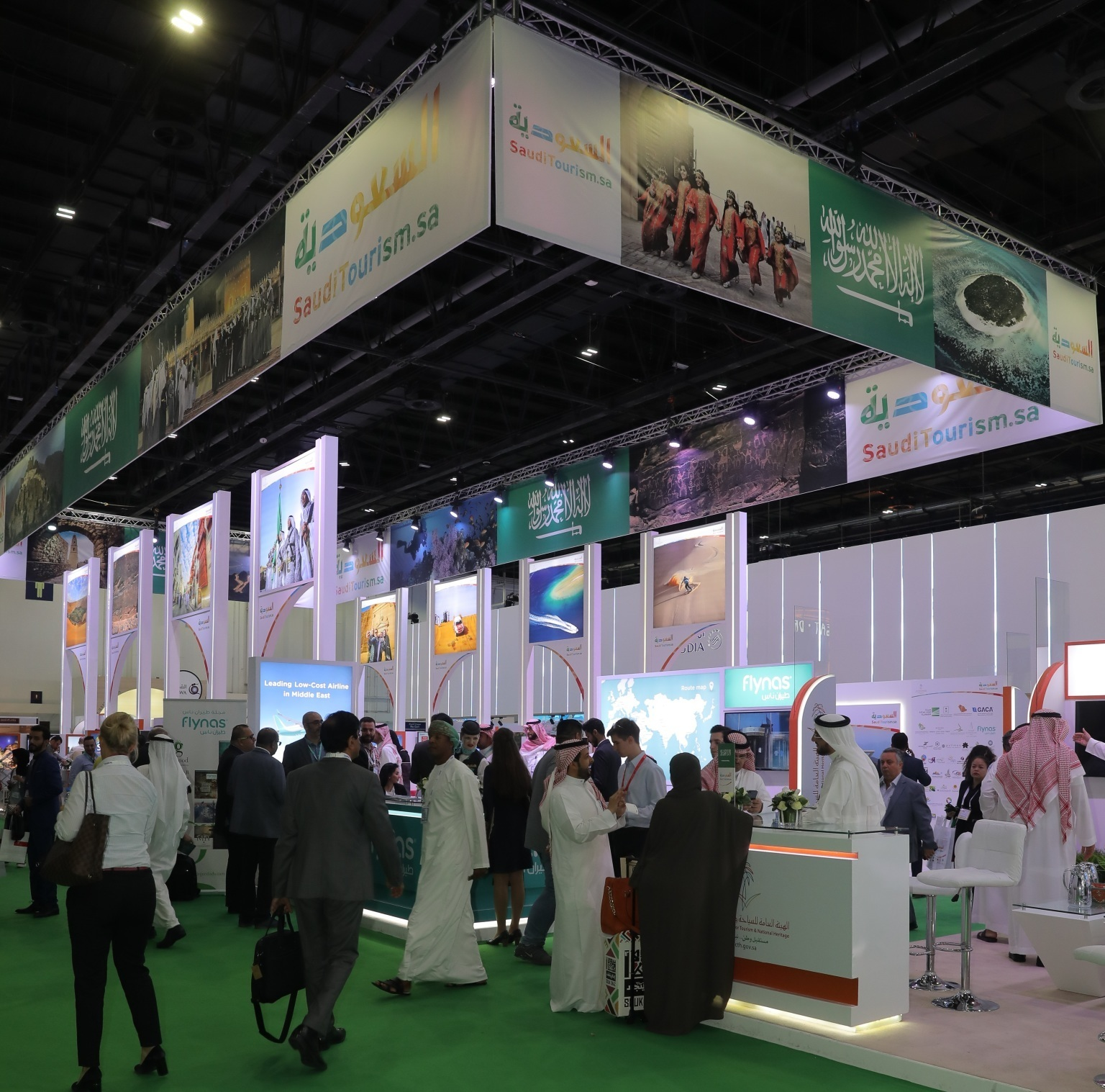 Saudi Arabia stand at Arabian Travel Market.
