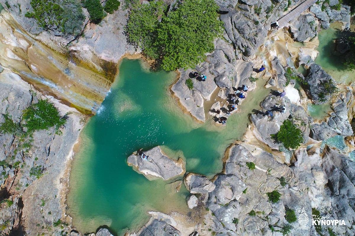 Lepida Waterfalls, north Kynouria, Greece. Photo Source: discoverkynouria.gr