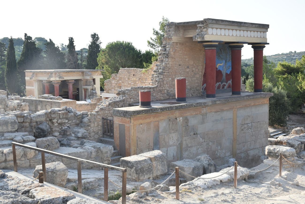 The archaeological site of Knossos on Crete.