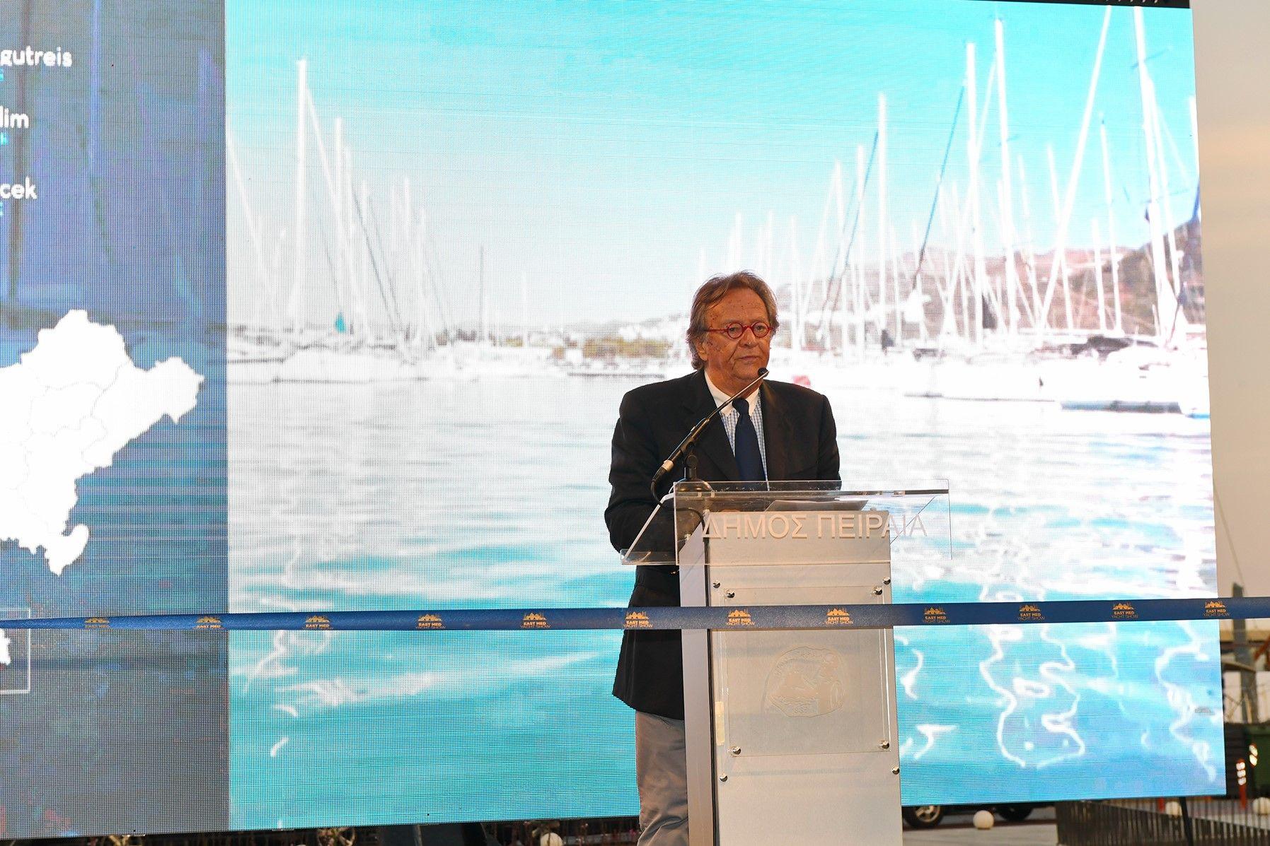 Ο Πρόεδρος της Ένωσης Πλοιοκτητών Ελληνικών Σκαφών Τουρισμού (Ε.Π.Ε.Σ.Τ.) κ. Αντώνης Στελλιάτος.