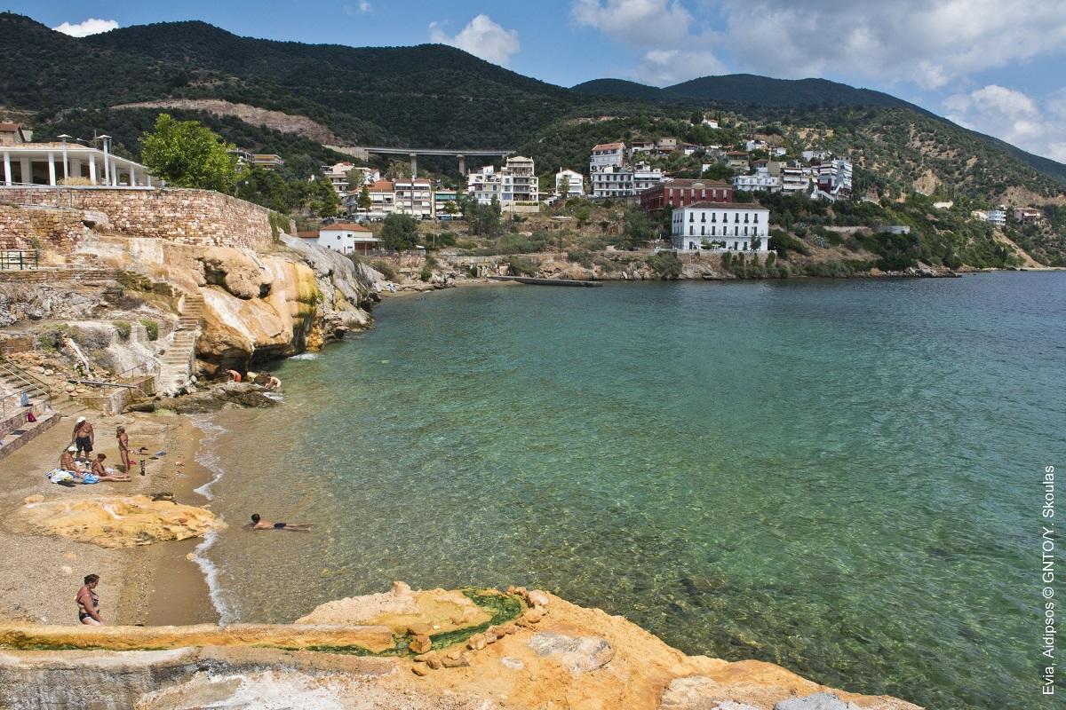 Edipsos, Evia. Photo Source: Visit Greece / Y. Skoulas