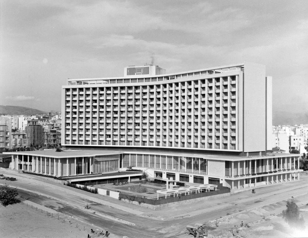 The Hilton Athens during its construction, 1961-1963. © Hilton Athens History Archives / Benaki Museum Photo Archives