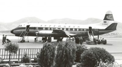 Archive photo of May 10, 1959, when the first Lufthansa flight from Germany landed in Athens, Greece. Photo source: Lufthansa