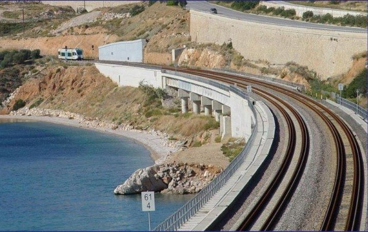 Railway works in Kiato. Photo Source: @ERGOSE