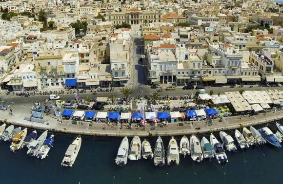Syros port. Photo Source: Municipality of Syros-Ermoupolis