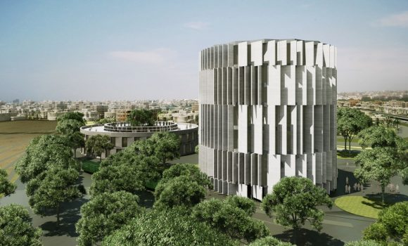 An impression of the Holocaust museum of Greece, set to open in Thessaloniki this year.