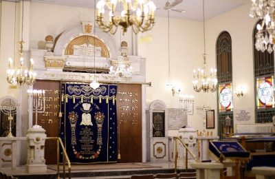 The Yad Lezikaron Synagogue in Thessaloniki, is dedicated to the memory of the Holocaust victims. It was inaugurated in 1984. Photo Source: Visit Thessaloniki