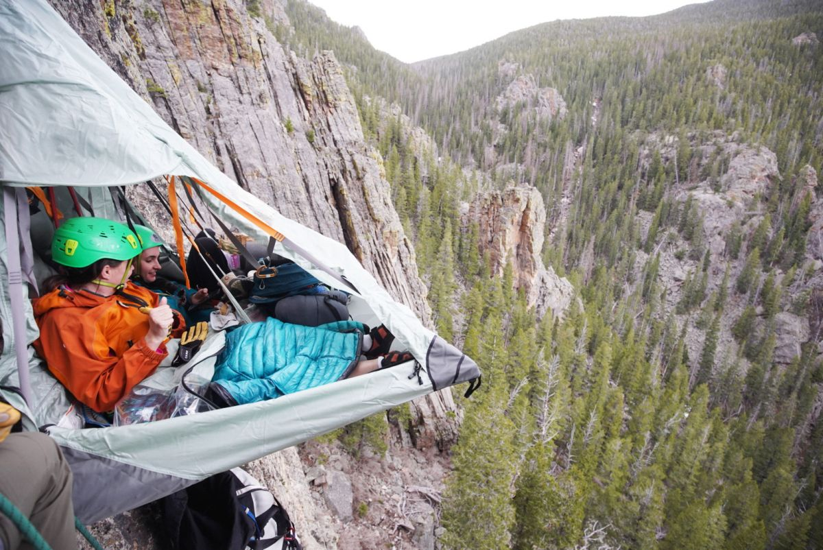 Camp on the Side of a Cliff in Colorado. Photo source: Airbnb