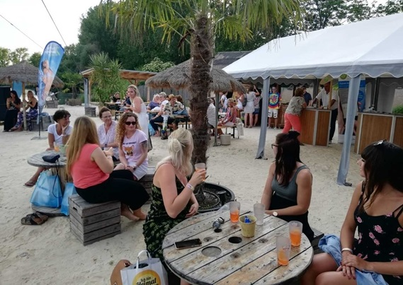 GNTO's event in Erfurt was held in a beach-like setting.