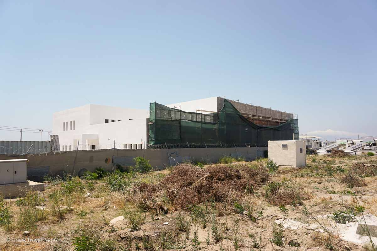 Construction of a new fire station at Mykonos Airport is underway.
