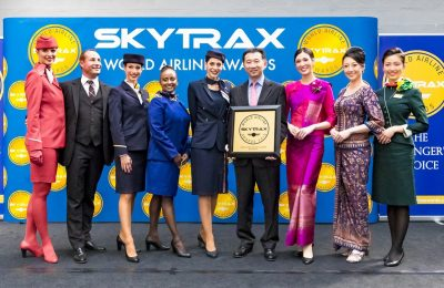 Star Alliance CEO Jeffrey Goh with member airlines cabin crew