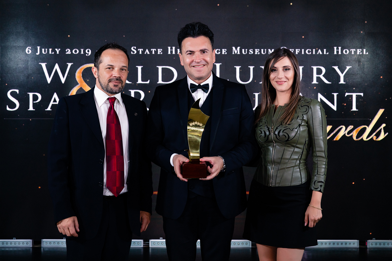 Petros Sklavenitis, marketing supervisor; Zacharias Chnaris, team leader and CEO; Giouli Kyriakaki, central administration at Aegeo Spas. (Central Administration)