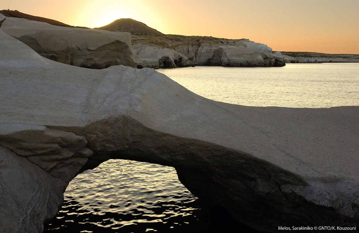 Sarakiniko, Milos. Photo Source: Visit Greece / K Kouzouni