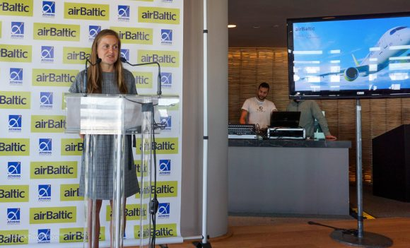AirBaltic Sales Manager for the Greek market, Dace Feldmane.
