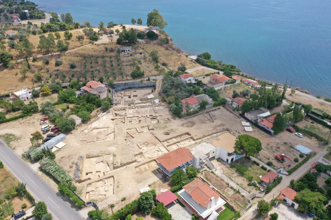 Aerial view of the excavation site in Paleochoria, Amarynthos, Evia. Photo source: Greek Culture Ministry