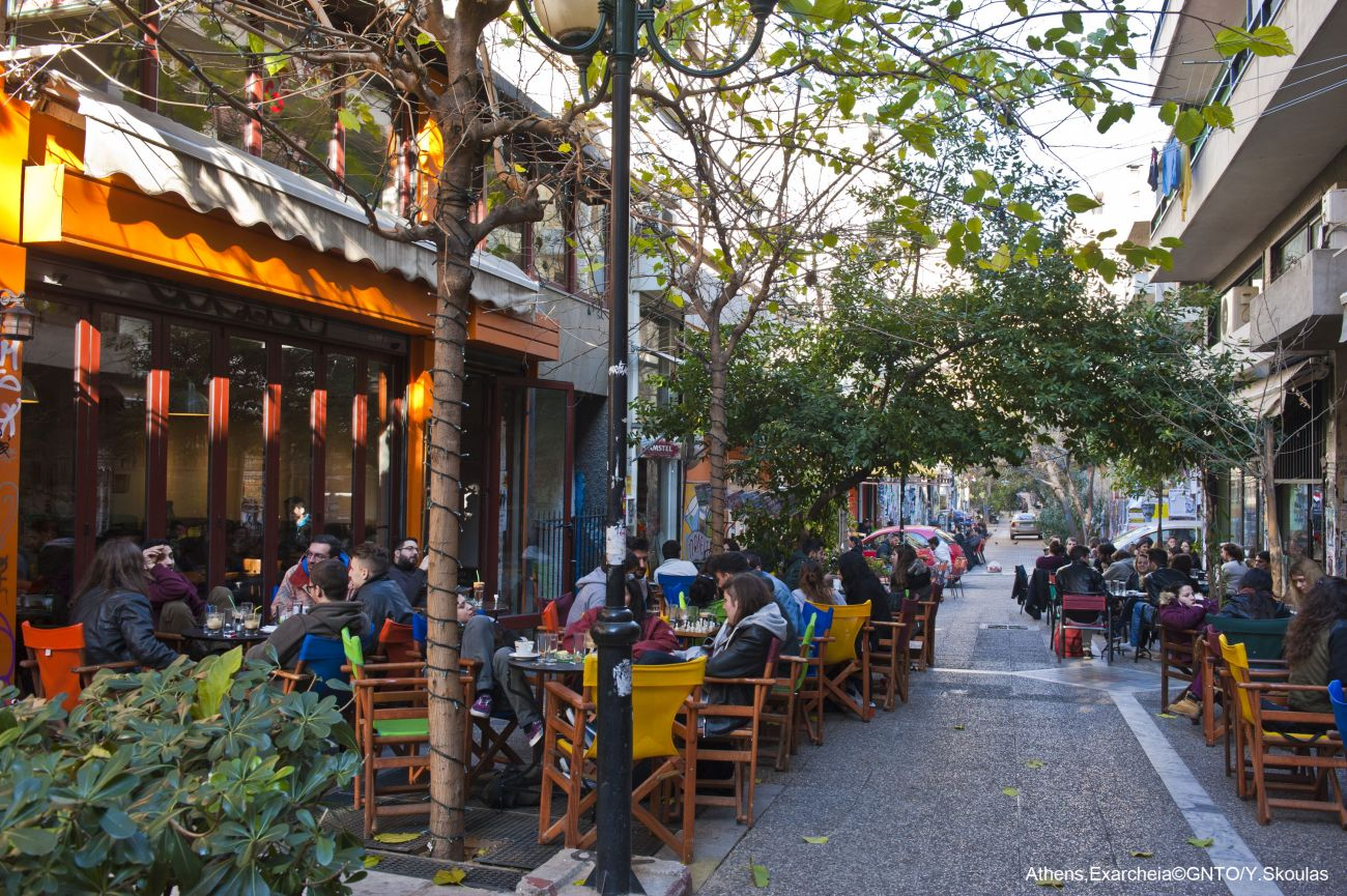 Exarcheia, Athens. Photo source: Visit Greece / Y. Skoulas