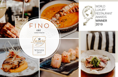 Fino Oia restaurant Awards Winner 2019