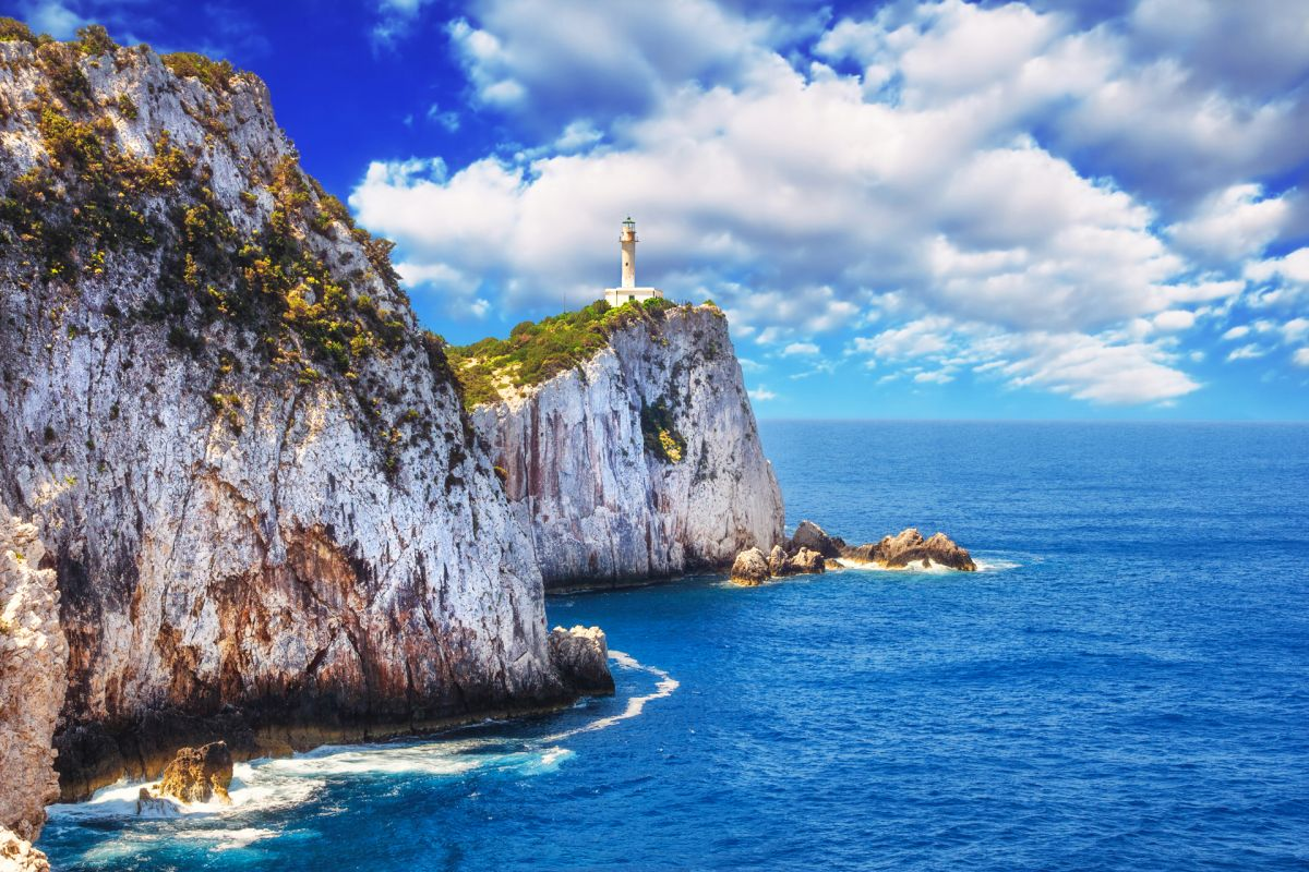 Doukato lighthouse at Lefkatas cape Photo © Mila Atkovska / Shutterstock