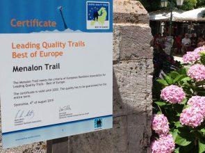 Menalon trail sign
