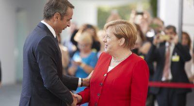 Kyriakos Mitsotakis - Angela Merkel